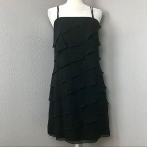 White House Black Market Black Tiered Dress